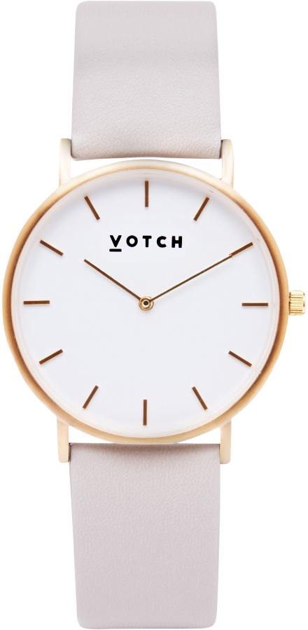 Votch Classic Collection Vegan Leather Watch - Gold