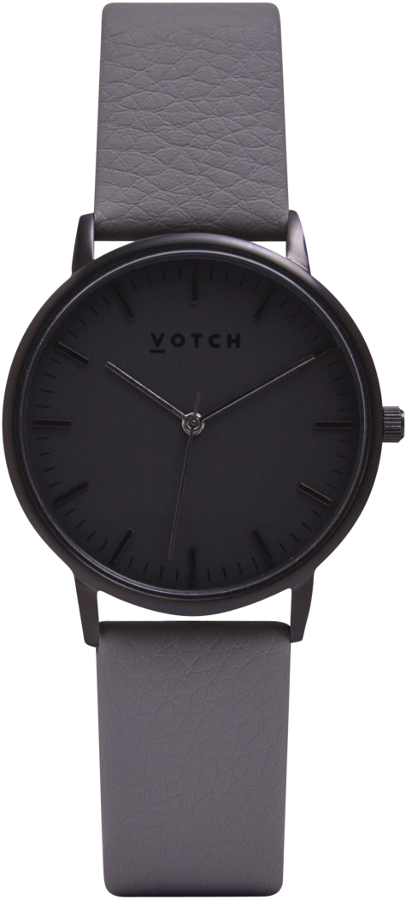 Votch New Collection Vegan Leather Watch - Black Face.