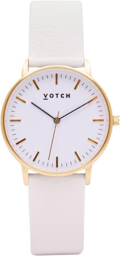Votch New Collection Vegan Leather Watch - Gold.