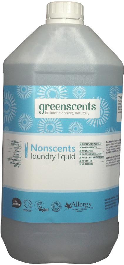 Greenscents Laundry Liquid Unscented 5L