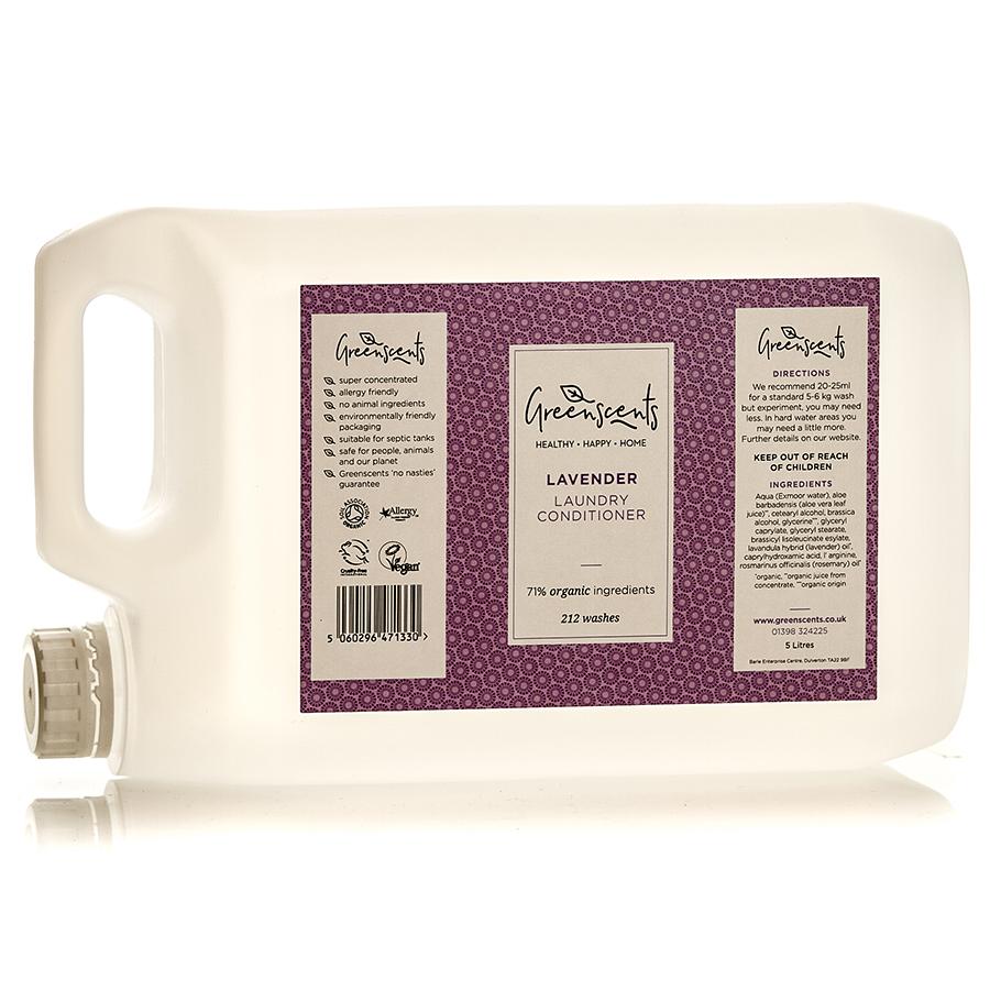 Greenscents Organic Fabric Conditioner Lavender - 5L