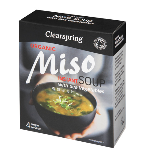 Clearspring Organic Miso Instant Soup with Sea Vegetables 4 X 10g.