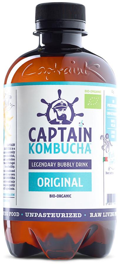 Captain Kombucha Bio-Organic Bubbly Drink - Original - 400ml