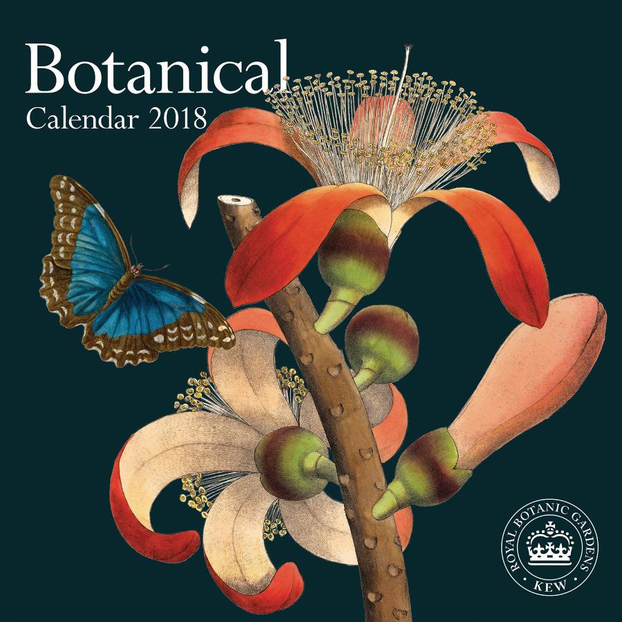 Secret Garden: RBG Kew Botanicals 2018 Wall Calendar
