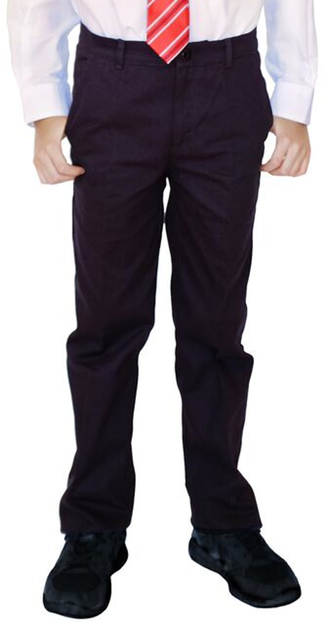 Boys Classic Fit Trousers - Black - 9yrs+