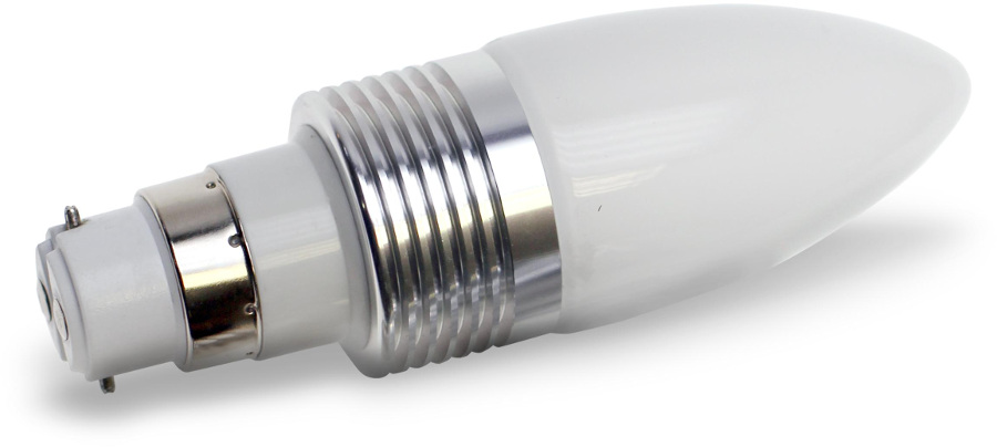 B22-240 Lumilife LED Bayonet Light Bulb 3 Watt (40W Equivalent) - Cool White.