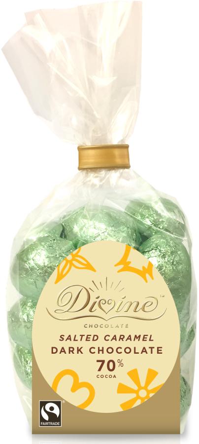 Divine 70% Dark Salted Caramel Chocolate Mini Eggs - 152g