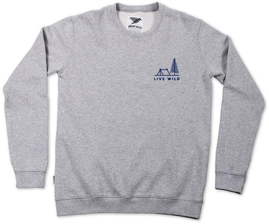Silverstick 'Live Wild' Men's Sweatshirt - Ash