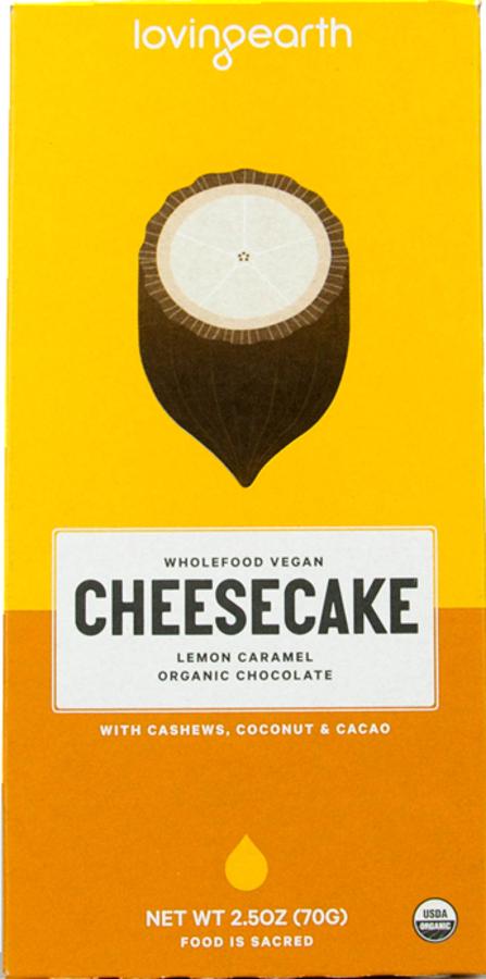 Loving Earth Lemon Cheesecake Caramel Chocolate - 80g