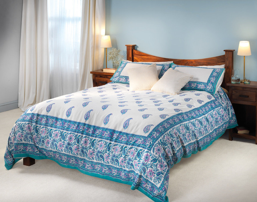 Turquoise Duvet Cover: Turquoise Paisley Duvet Cover Set