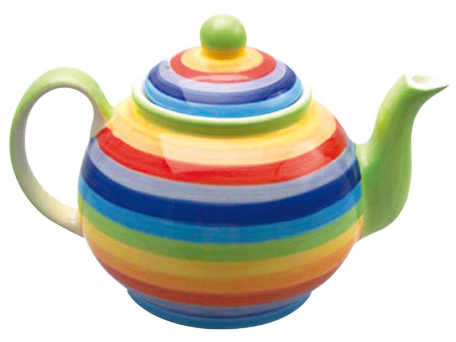 Handpainted Large Rainbow Teapot