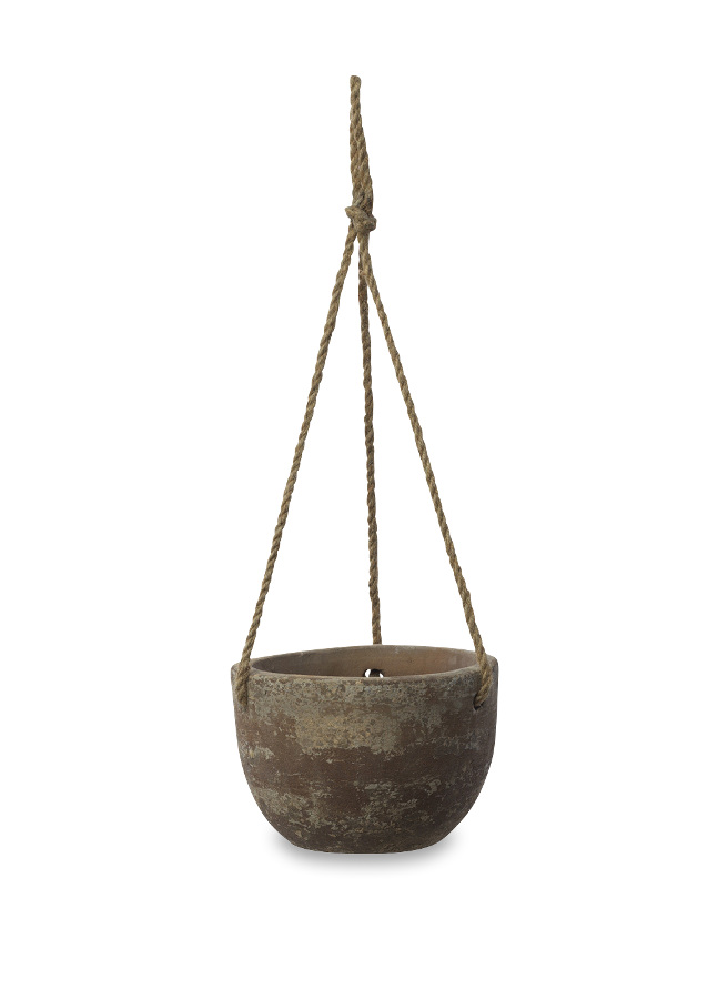 Image of Affiti Clay Hanging Planter - Small