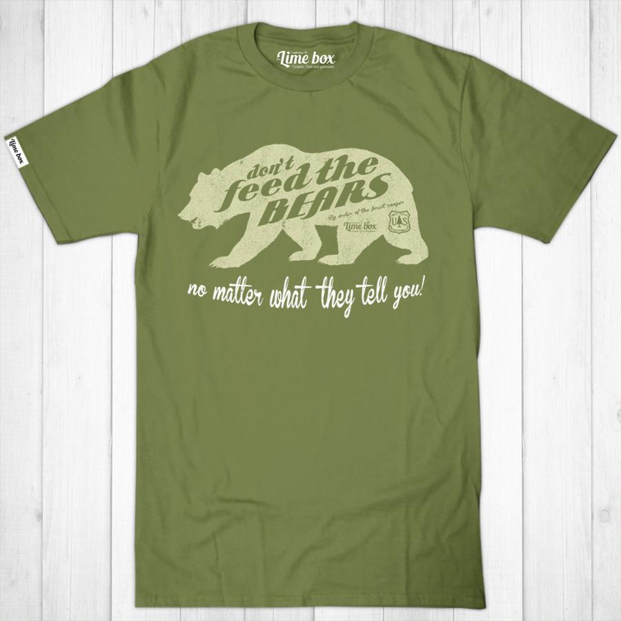 Men's Don't Feed the Bears Fair Wear Cotton T-Shirt