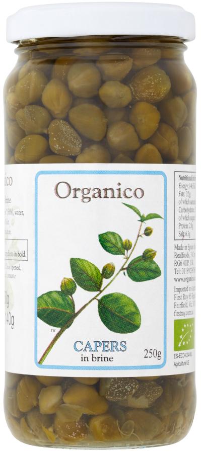 Organico Capers in Brine - 250g