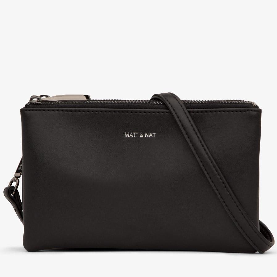 Matt & Nat Triplet Vegan Crossbody Bag - Black