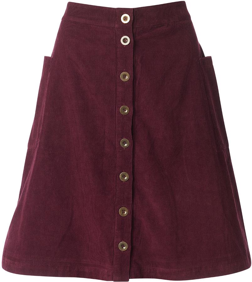 Nomads Button Front Skirt - Plum