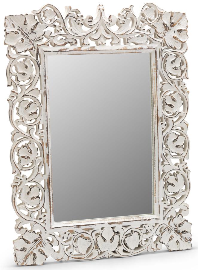 Carved Whitewash Mirror