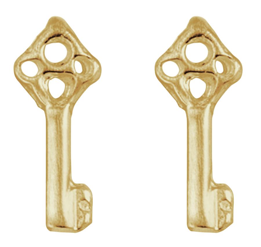 Kashka London Childrens Key and Hope Gold Earrings