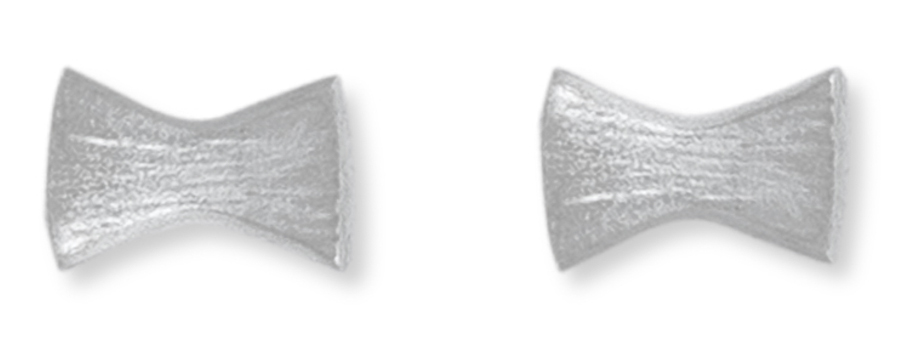Kashka London Childrens Bows and Pins Silver Earrings