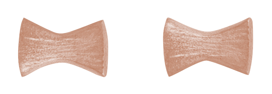 Kashka London Childrens Bows and Pins Rose Gold Earrings