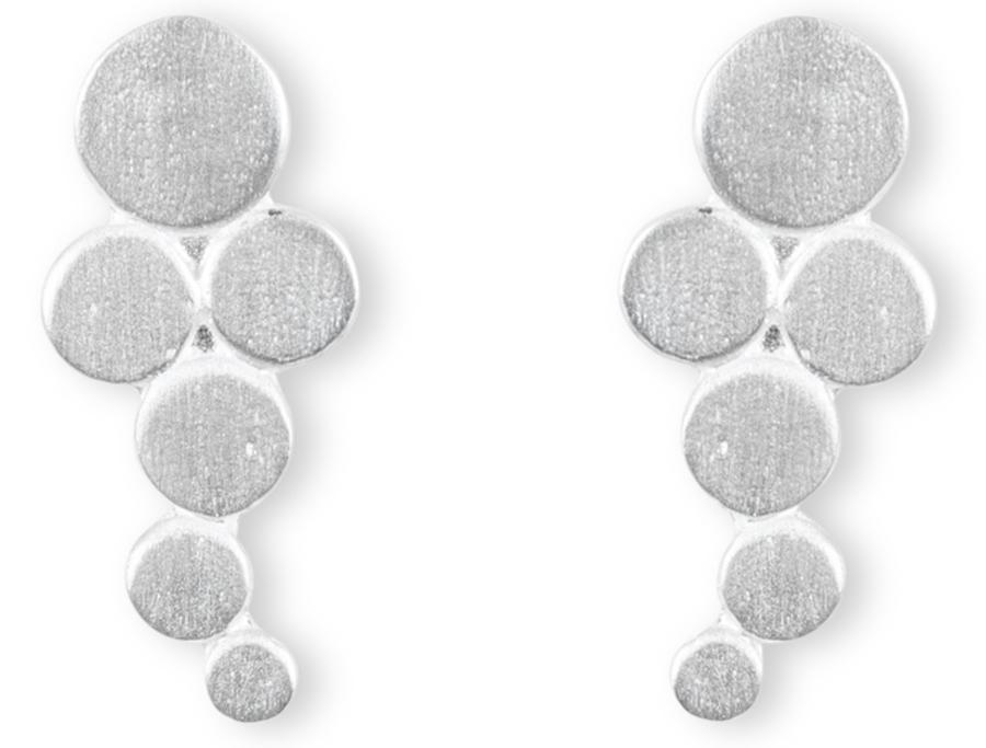 Kashka London Big Bubbles Silver Earrings