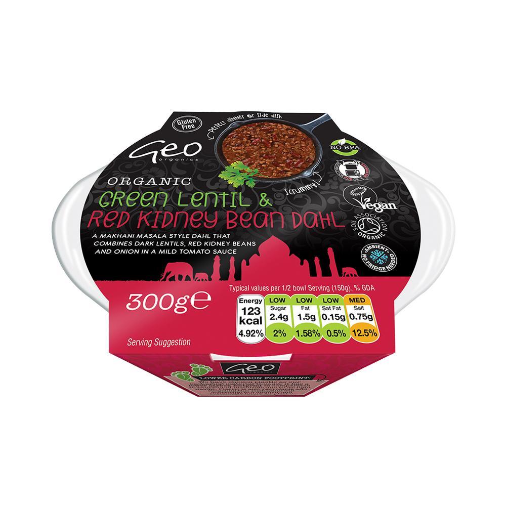 Geo Organics Green Lentil & Red Kidney Dahl - 300g
