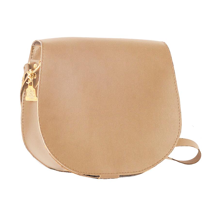 Wilby Bailey Beige Saddle Bag