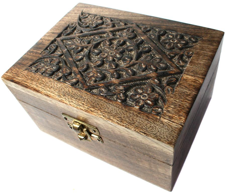 Mango Wood Aromatherapy Oil Box