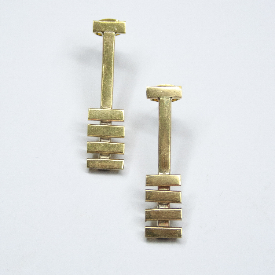 Made Brass Inca Stud Earrings