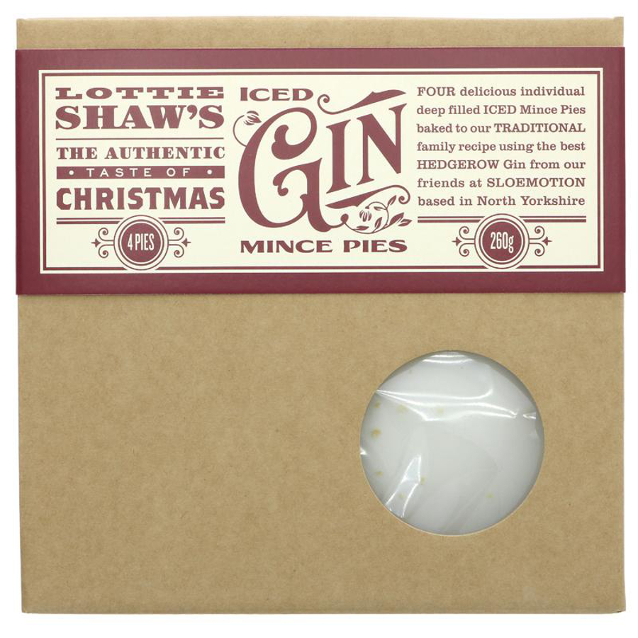 Lottie Shaw's Gin Iced Mince Pies - 320g