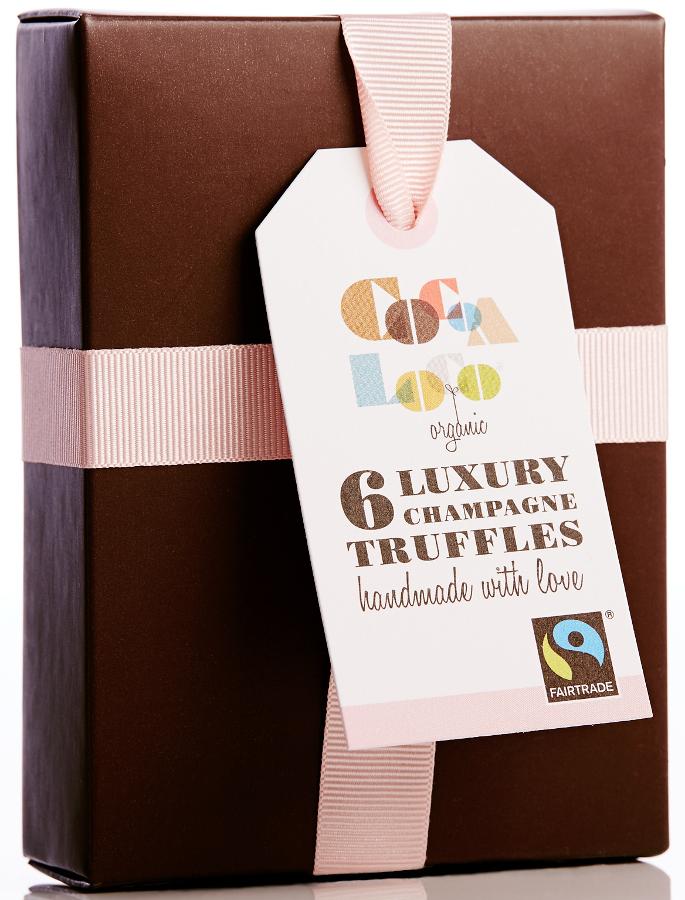Cocoa Loco Handmade Champagne Truffles - Box of 6
