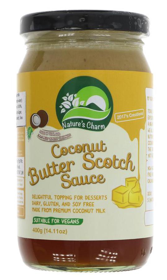 Nature's Charm Vegan Coconut Butterscotch Sauce - 400g