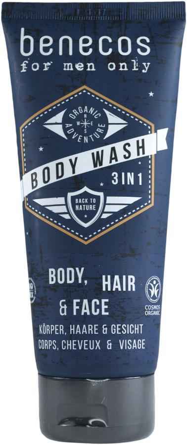 Benecos For Men 3-in-1 Body Wash Gel - 200ml