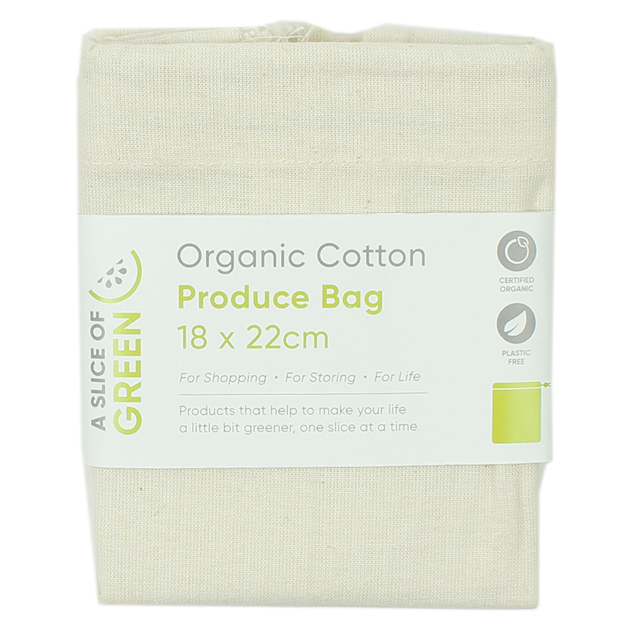 Image of A Slice of Green Organic Cotton Produce Bag - Small