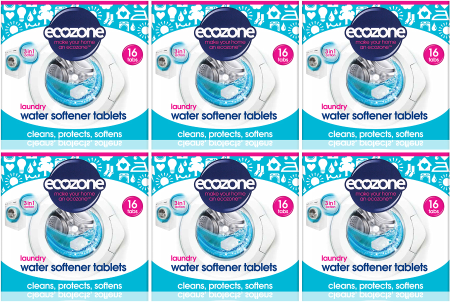 Ecozone Laundry Water Softer Tablets Kit - 6 x 16 Tablets