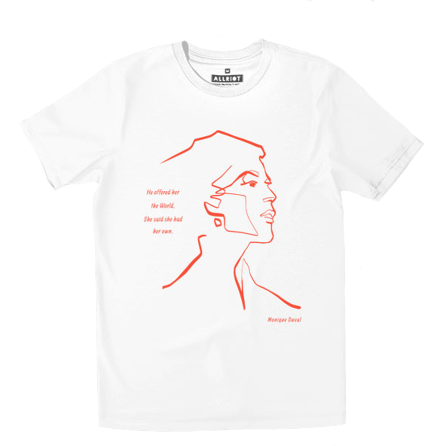 All Riot He Offered Her the World Organic T-Shirt - White