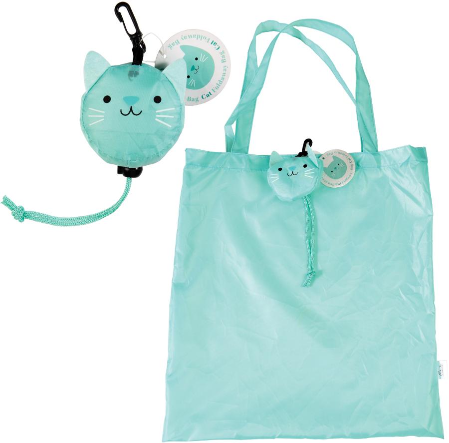 Cookie the Cat Foldaway Reusable Shopping Bag