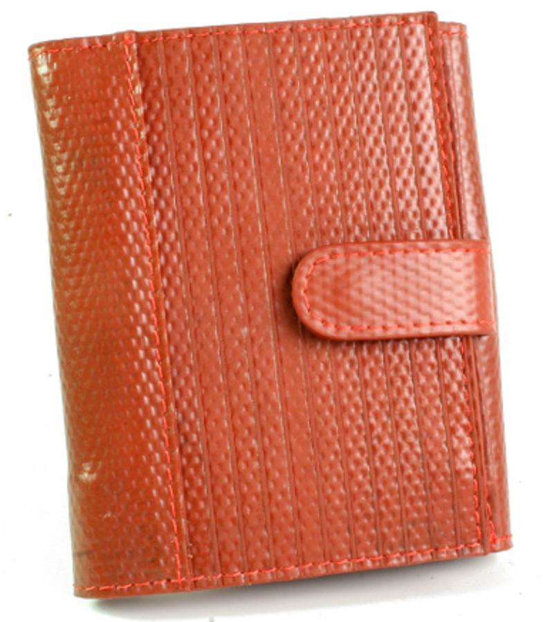 Elvis & Kresse Reclaimed Firehose Folding Purse - Red