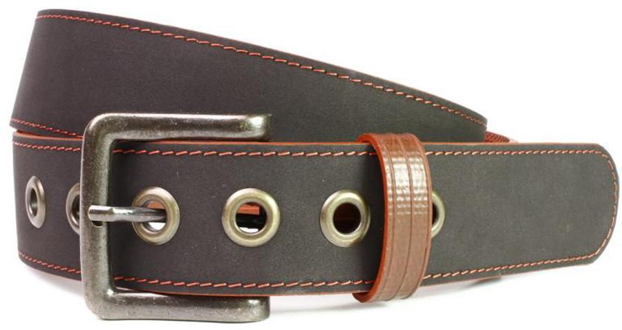 Elvis & Kresse Reclaimed Firehose Print Room Belt - Black