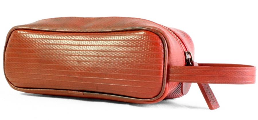 Elvis & Kresse Reclaimed Firehose Travel Case - Red
