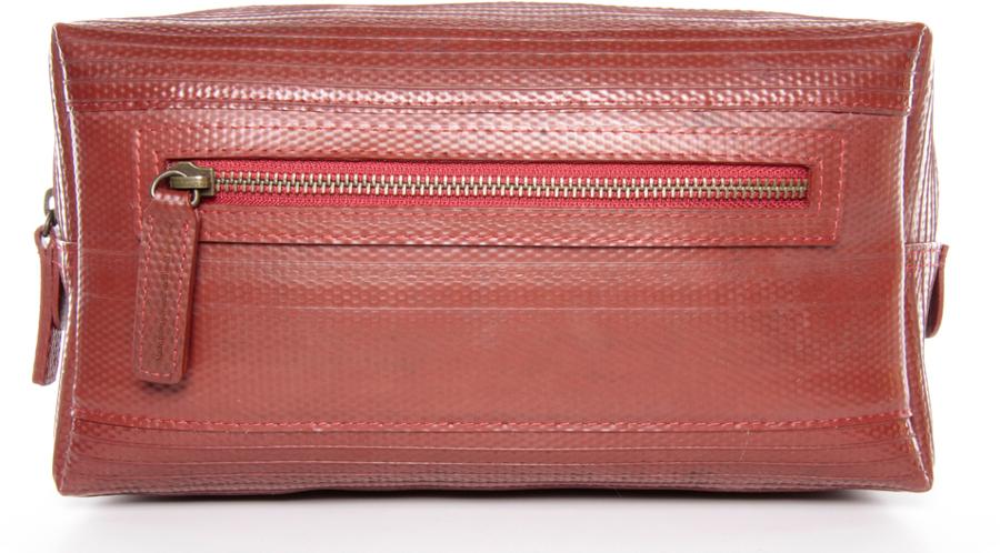 Elvis & Kresse Reclaimed Firehose Large Wash Bag - Red
