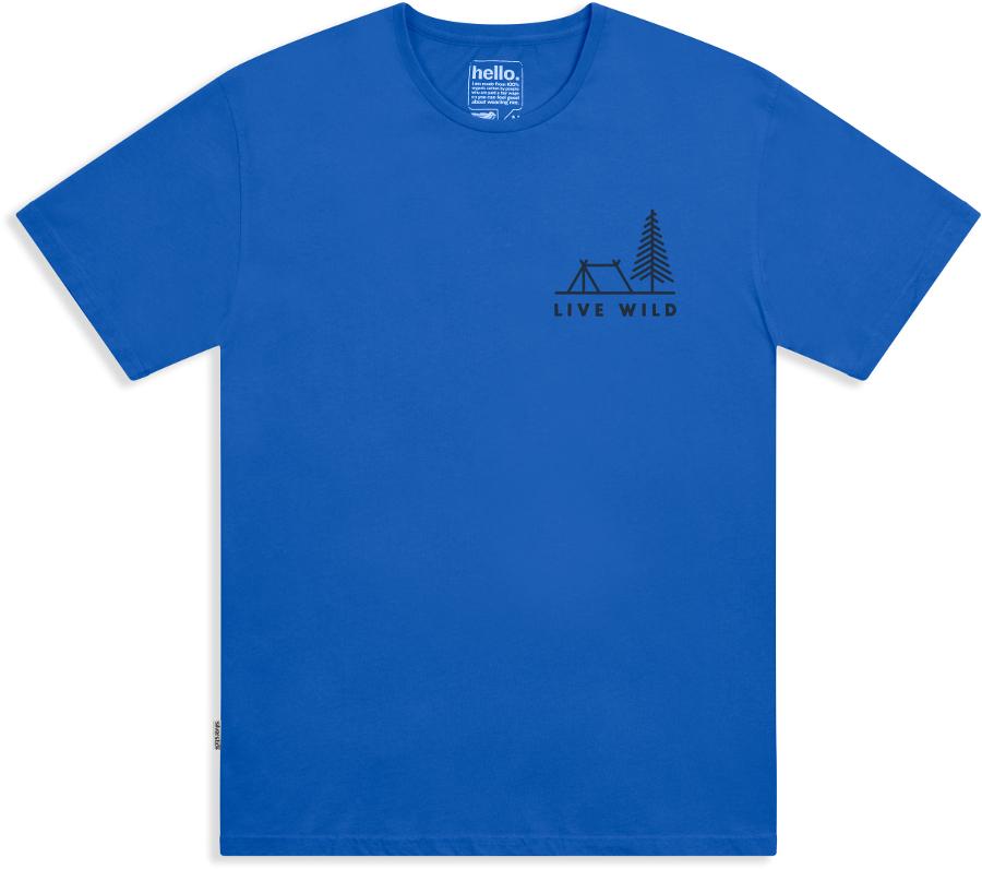 Silverstick Men's Live Wild Organic Cotton T-Shirt - Atlantic