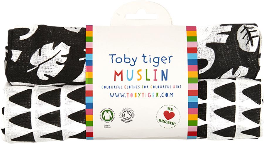 Toby Tiger Black Jungle Muslin Cloths
