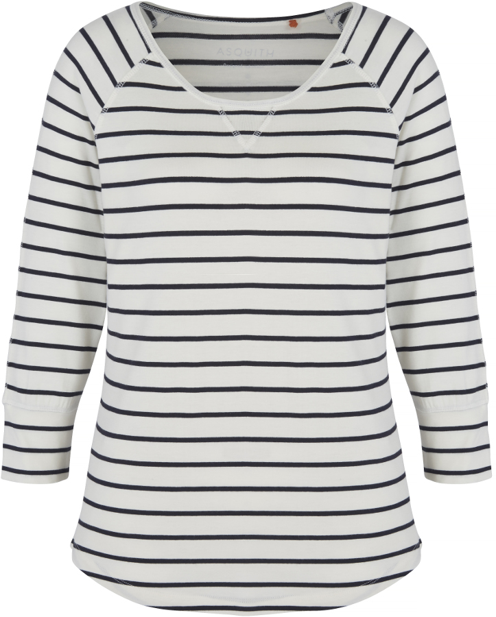 Asquith Bamboo Boogie Tee - Navy & Ivory Stripe