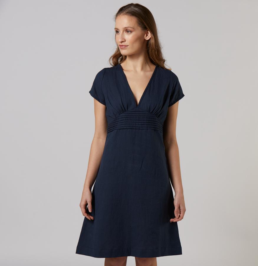 Mudd & Water Navy Linen Dress