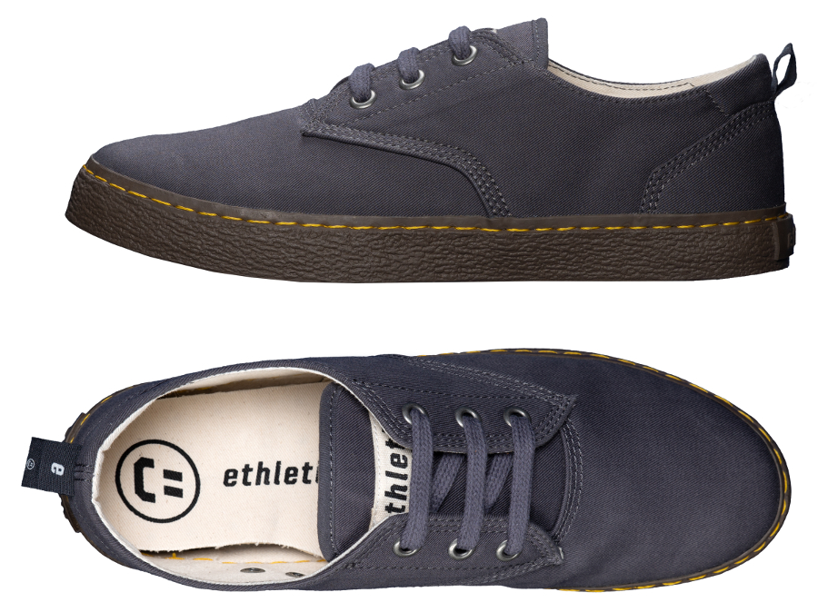 Ethletic Fairtrade Brody Skater Shoes - Pewter Grey