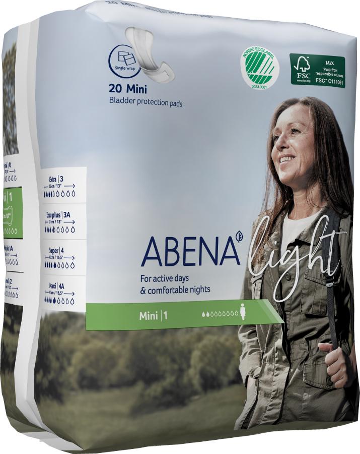 Abena Light Incontinence Pads - Mini - Pack of 20