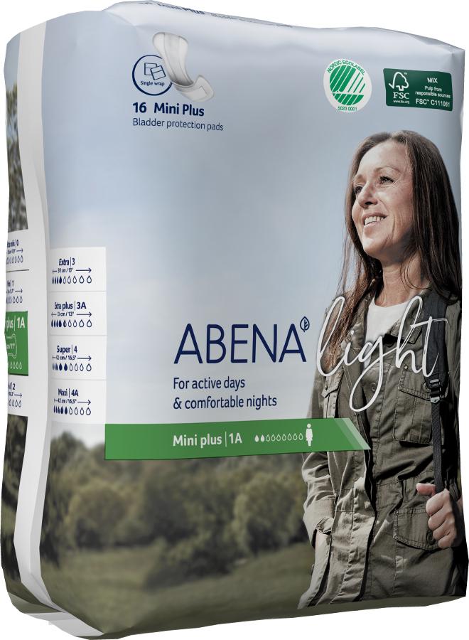 Abena Light Incontinence Pads - Mini Plus - Pack of 16
