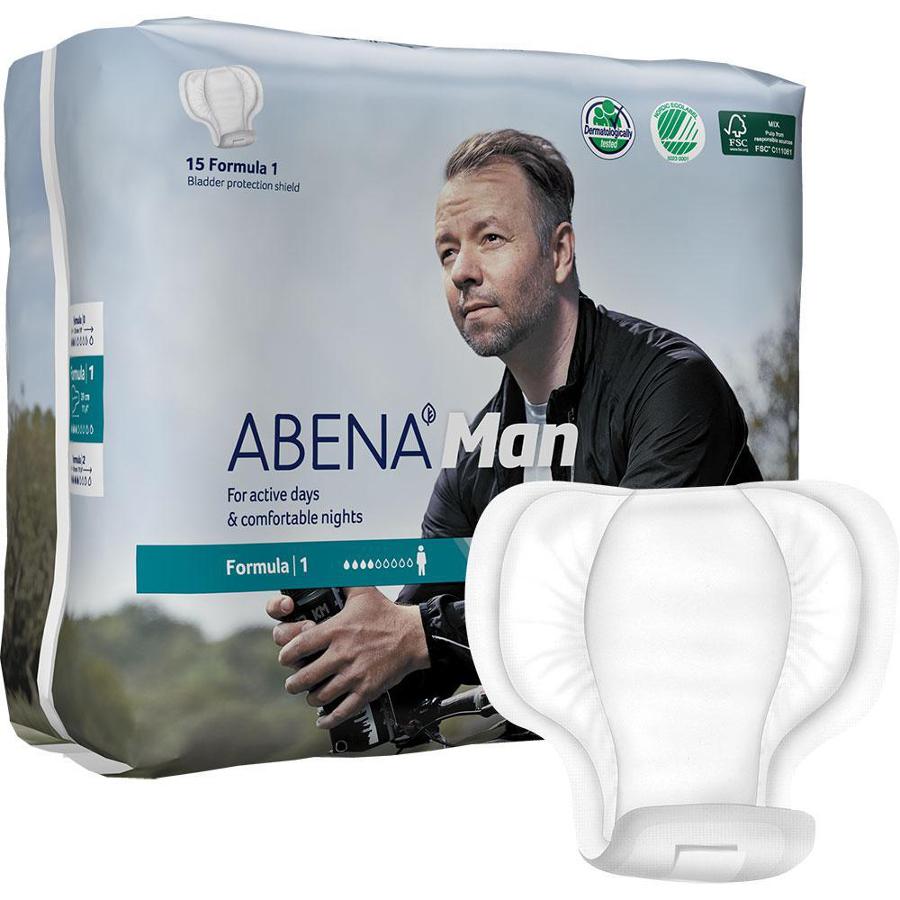 Abena Man Incontinence Pads - Formula 1 - Pack of 15