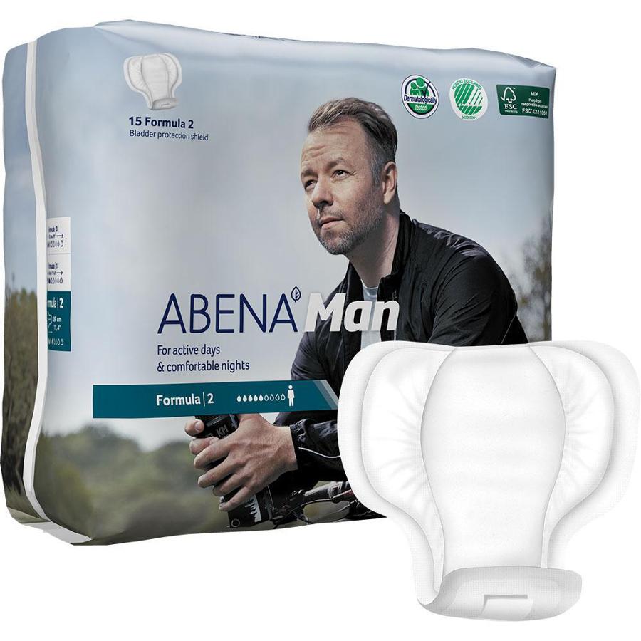Abena Man Incontinence Pads - Formula 2 - Pack of 15